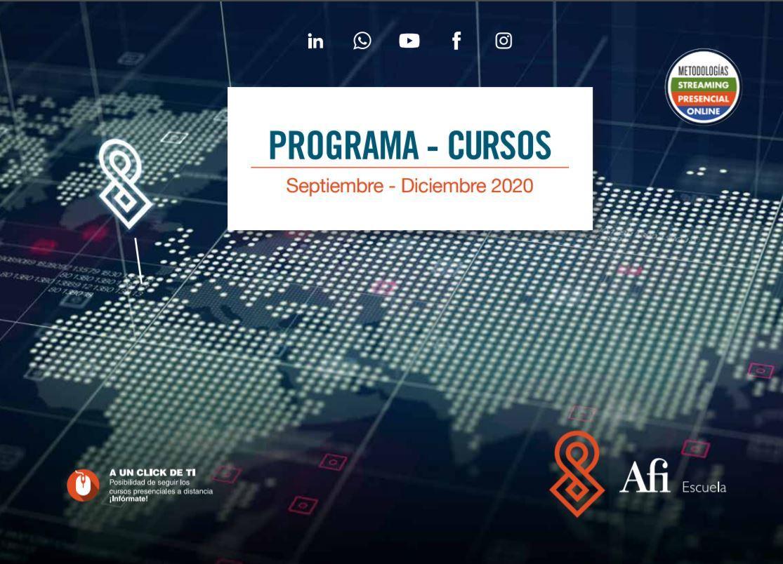 Catalogo de formación último cuatrimestre 2020 - Afi Escuela
