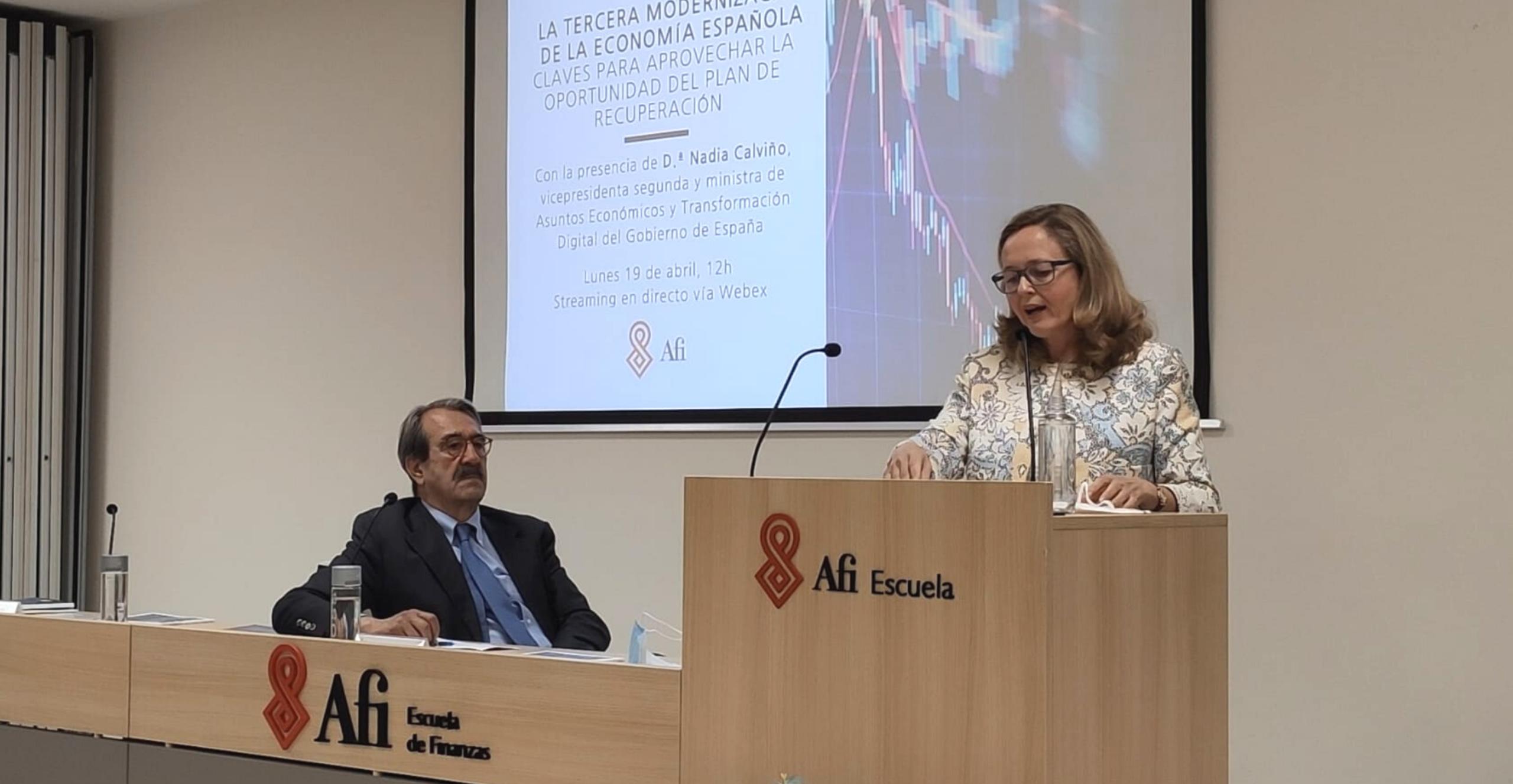 Nadia Calviño y Emilio Ontiveros